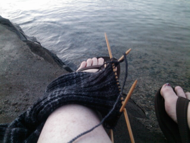 Sock on the water
