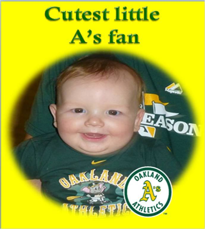 Cutest little A's Fan!